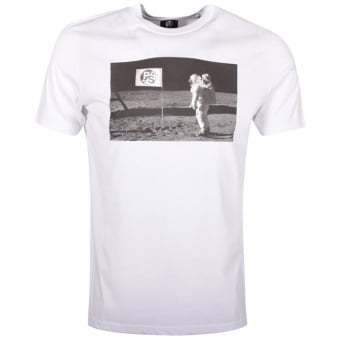 Paul Smith White Man on the Moon T-Shirt