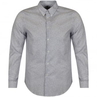 Paul Smith Jeans White & Navy Print Shirt
