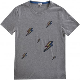 Paul Smith Junior Grey Lighting Bolt Design Tee