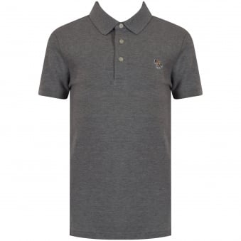Paul Smith Junior Grey Logo Polo Shirt