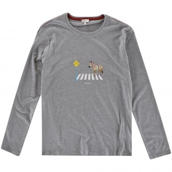 Paul Smith Junior Grey Zebra Crossing Longsleeve T-Shirt