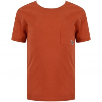 Paul Smith Junior Orange Pocket Logo T-Shirt