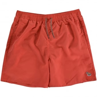 Paul Smith Junior Peach Red Logo Swim Shorts
