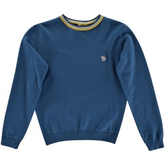 Paul Smith Junior Petrol Blue Logo Jumper
