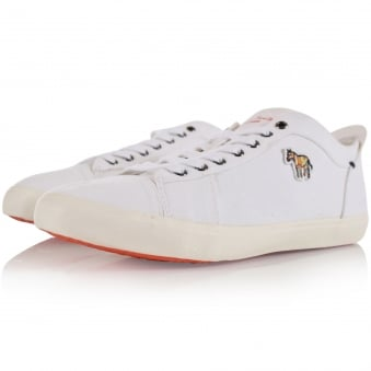 Paul Smith Junior White Logo Canvas Trainers