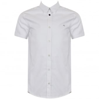 Paul Smith Junior White Logo Short Sleeve Shirt