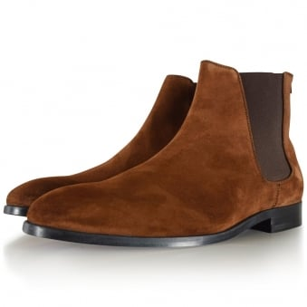 Paul Smith Brown Suede 'Gerald' Chelsea Boot