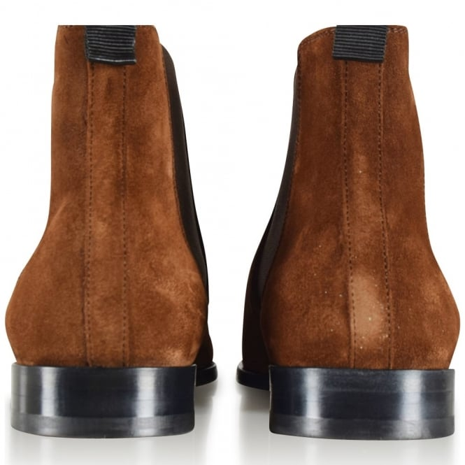 41109be661203 PAUL SMITH SHOE Paul Smith Brown Suede 'Gerald' Chelsea Boot - Men ...