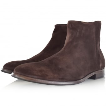 Paul Smith Dark Brown 'Jean' Cow Leather Boots