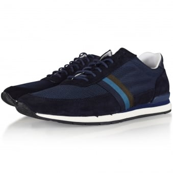 Paul Smith Navy Mesh Trainers