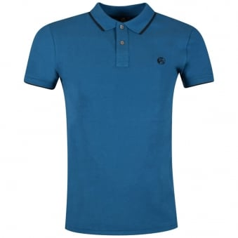 Paul Smith Turquoise Small Logo Polo Shirt