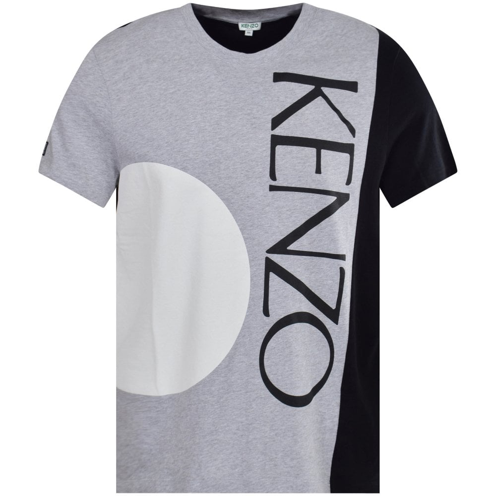 3878e05a KENZO Pearl Grey & Black Sun Print T-Shirt - Men from Brother2Brother UK