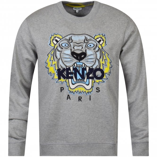 2755274f KENZO Pearl Grey Tiger Sweatshirt - Department from Brother2Brother UK