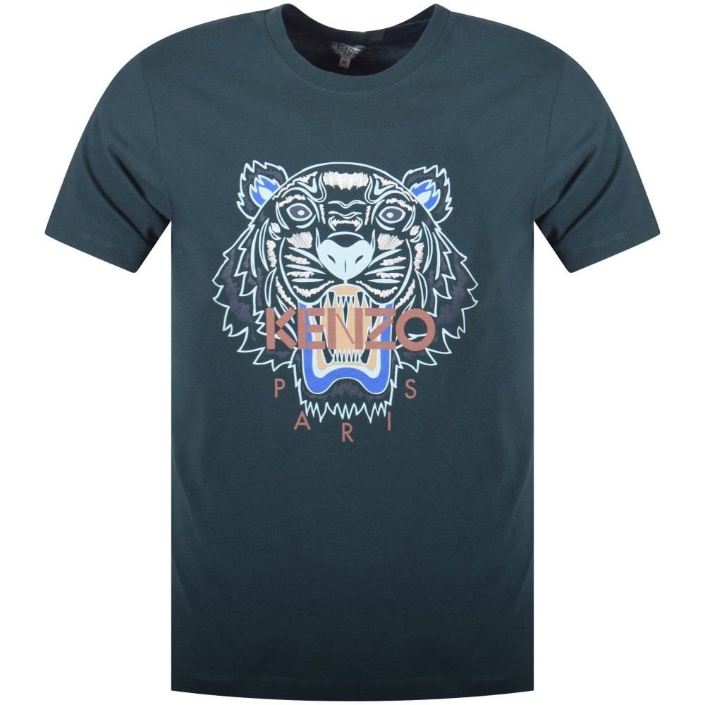 94fa4b13 KENZO Pine Green Tiger T-Shirt - Men from Brother2Brother UK