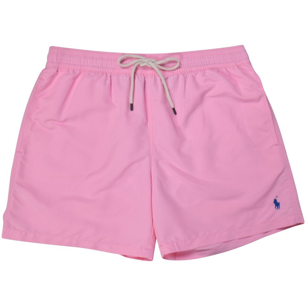 b95700ee3c815 POLO RALPH LAUREN Pink Logo Swim Shorts - Department from ...