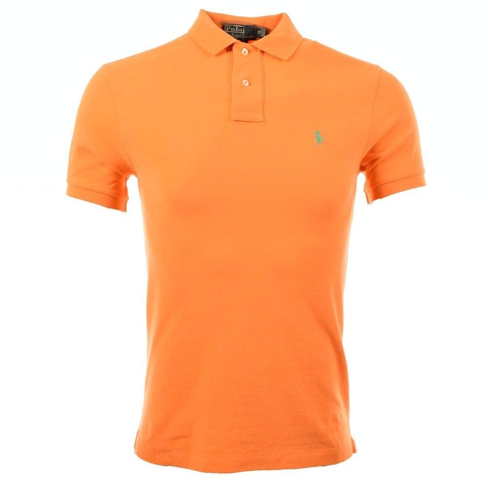 A12KS13M C0004 Orange Short Sleeved Polo Shirt