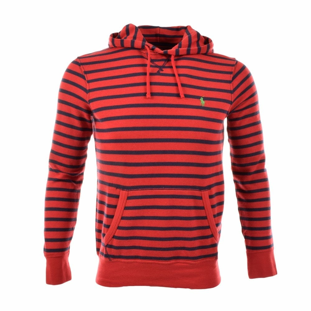 13c75586a POLO RALPH LAUREN A14KCW6Y BHJV5 Red Navy Stripe Hoodie - Department ...