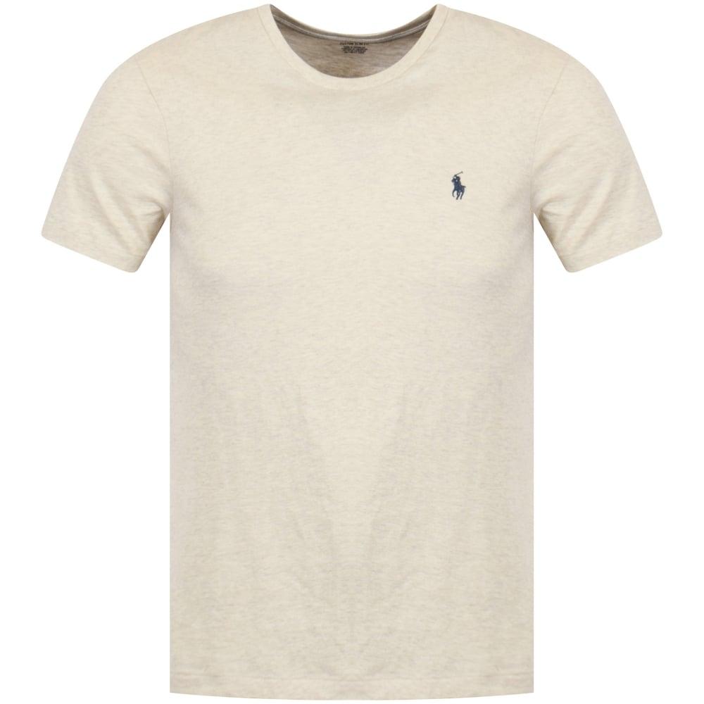 Neck Beige Polo Lauren T Ralph Crew Shirt VpGSUzMLq