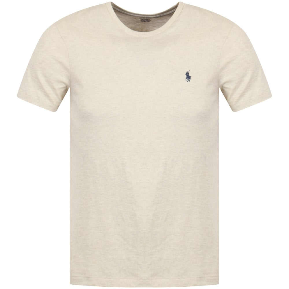Polo Neck Beige Crew T Shirt Lauren Ralph 7byfg6Y
