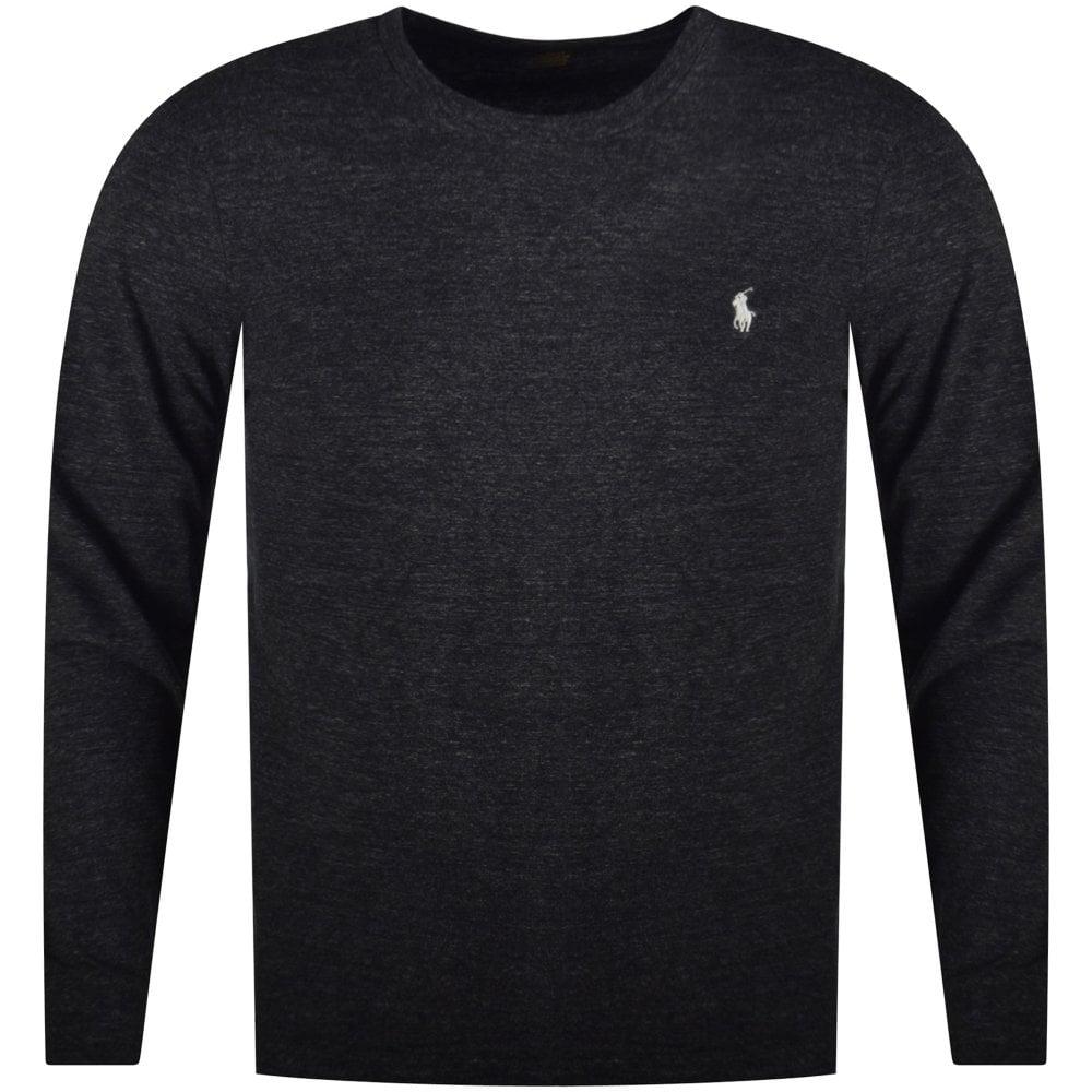 bdd2bd7ed5a9 POLO RALPH LAUREN Black Custom Slim Fit Long Sleeved T-Shirt - Men ...