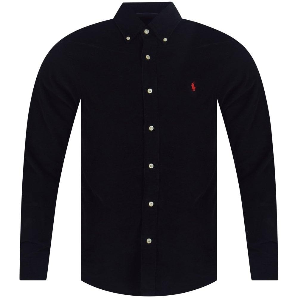 Fine Black Shirt Fine Corduroy Black xWrCBode
