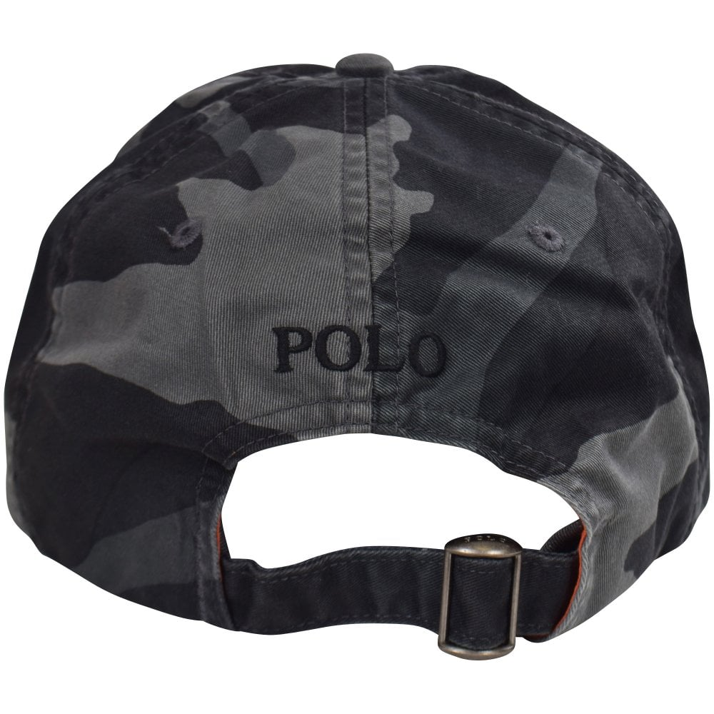 POLO RALPH LAUREN Black Grey Camo Logo Baseball Cap - Men from ... 5e544c05d20