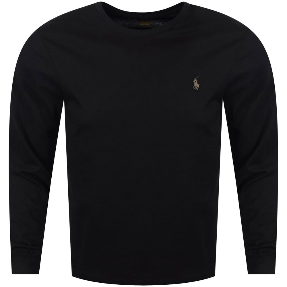 Long Lauren T Ralph Black Sleeve Polo Shirt xBodWQreEC