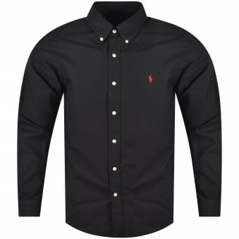 Polo Ralph Lauren Black/Red Slim Fit Long Sleeve Shirt