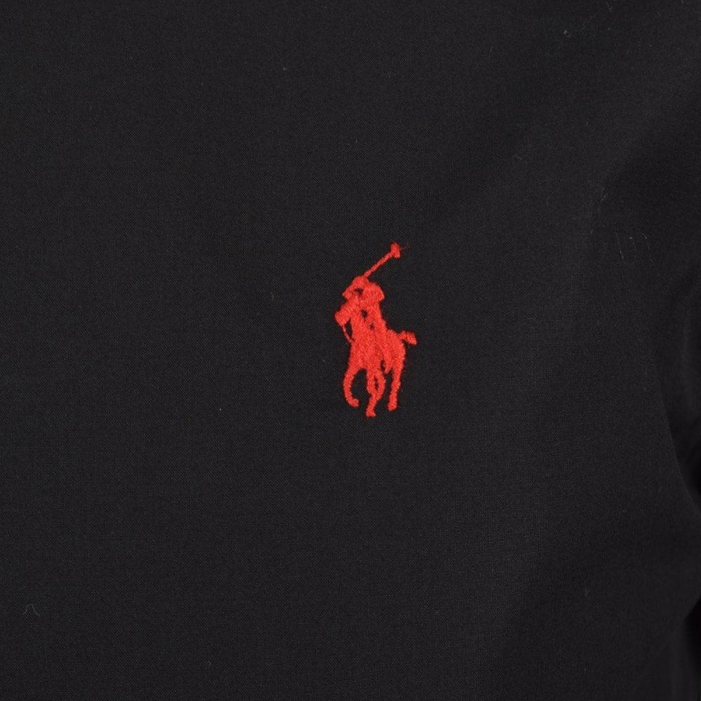 POLO RALPH LAUREN Polo Ralph Lauren Black Red Slim Fit Long Sleeve ... a880f91aa5ae