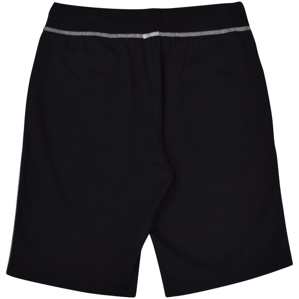 b7a518a10 POLO RALPH LAUREN Black White Stitch Logo Shorts - Department from ...