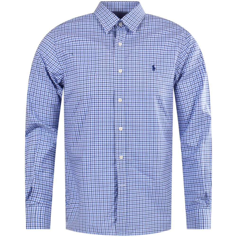4751b68795f POLO RALPH LAUREN Polo Ralph Lauren Blue Check Long Sleeved Mens ...