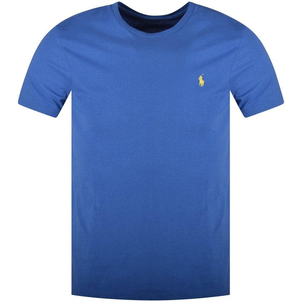 Lauren Polo Fit Ralph Shirt Blue Custom From T Slim Men edBoCxrW