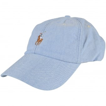 Polo Ralph Lauren Blue Embroidered Front Logo Cap