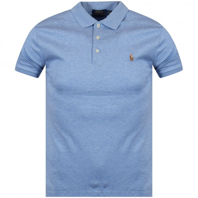 POLO RALPH LAUREN Blue Heather Polo Shirt