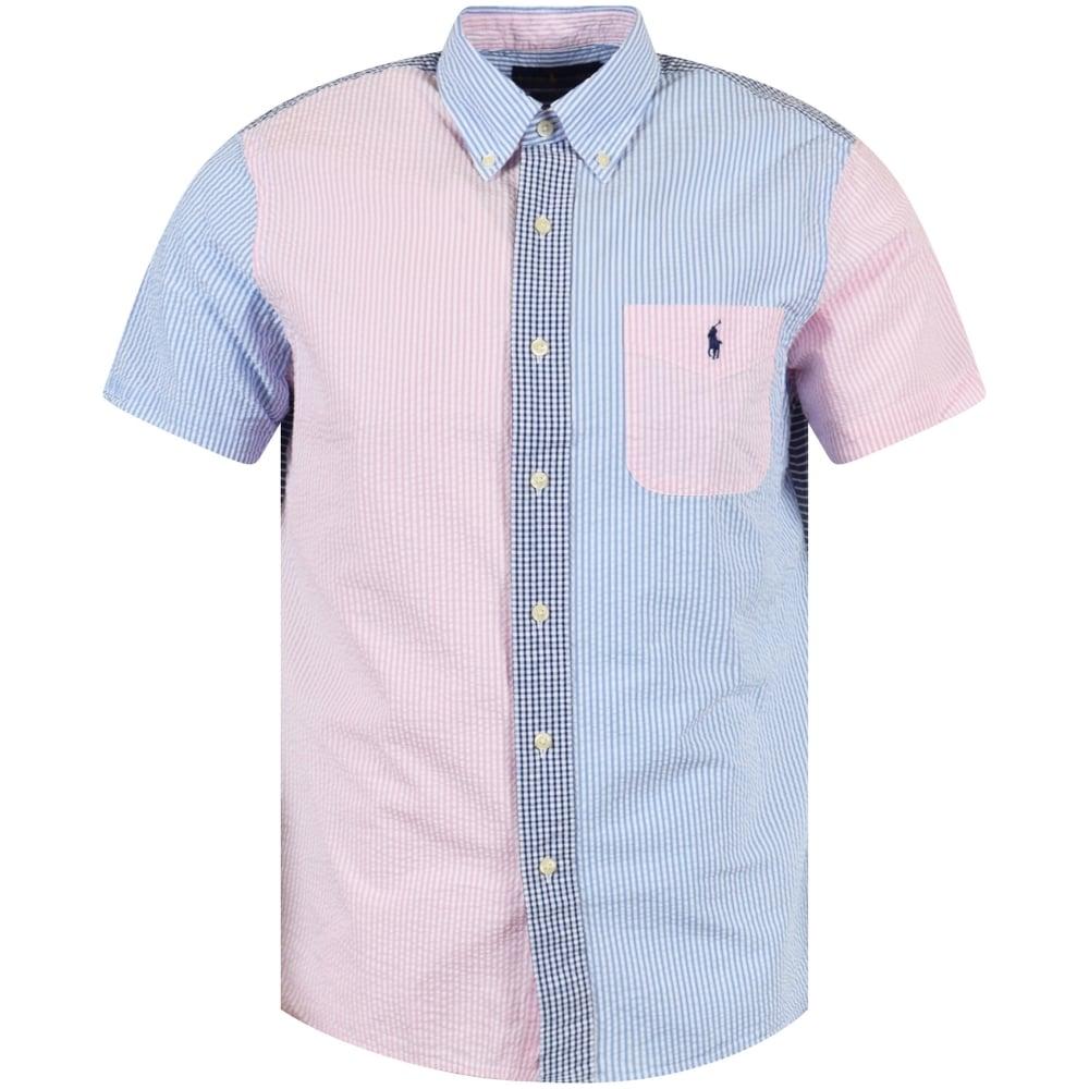 7659bd35879a3 POLO RALPH LAUREN Polo Ralph Lauren Blue Pink Short Sleeve Shirt ...