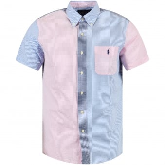 Polo Ralph Lauren Blue/Pink Short Sleeve Shirt