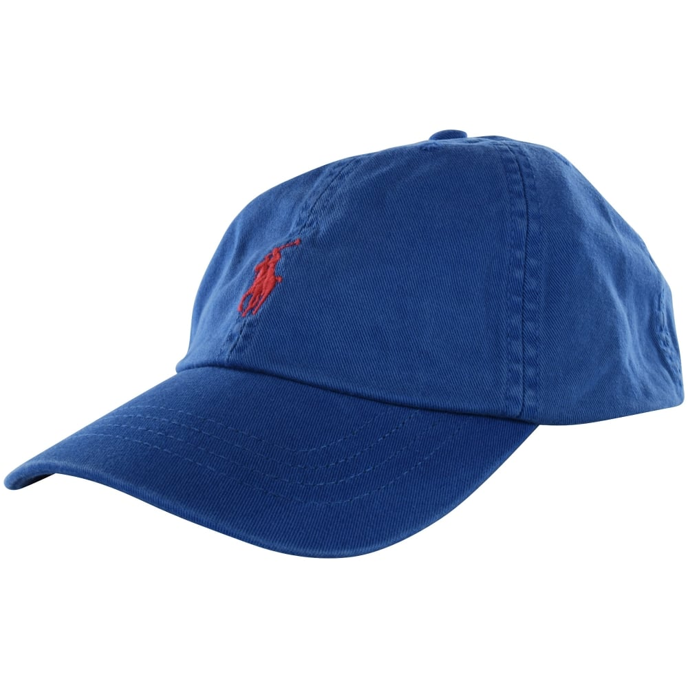 50cc4abb415 POLO RALPH LAUREN Polo Ralph Lauren Blue Red Detailing Baseball Cap ...