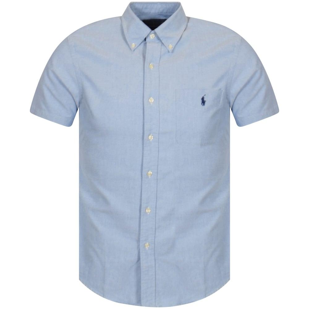 9abe1a82a65ef POLO RALPH LAUREN Polo Ralph Lauren Blue Short Sleeve Slim Fit Shirt ...