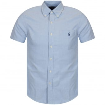 Polo Ralph Lauren Blue Short Sleeve Slim Fit Shirt