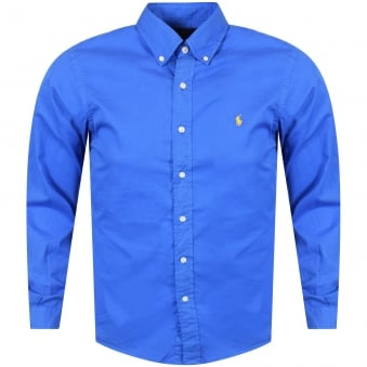 Polo Ralph Lauren Blue Slim Fit Button Up Shirt