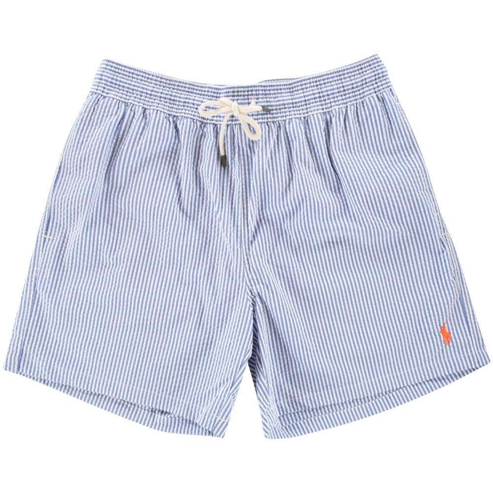 POLO RALPH LAUREN Polo Ralph Lauren Blue White Stripe Swim Shorts ... f5ba46055