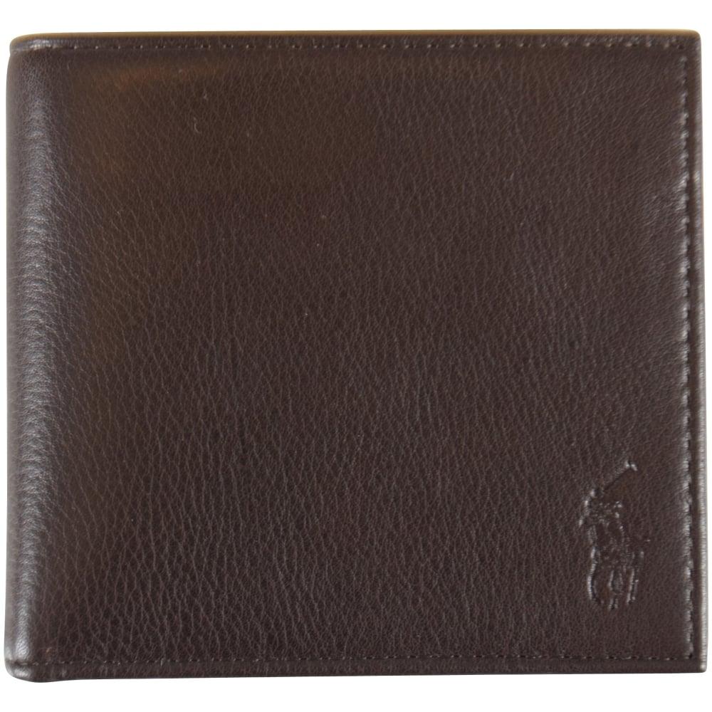 ff6a6d01306 POLO RALPH LAUREN Polo Ralph Lauren Brown Leather Billfold Wallet ...