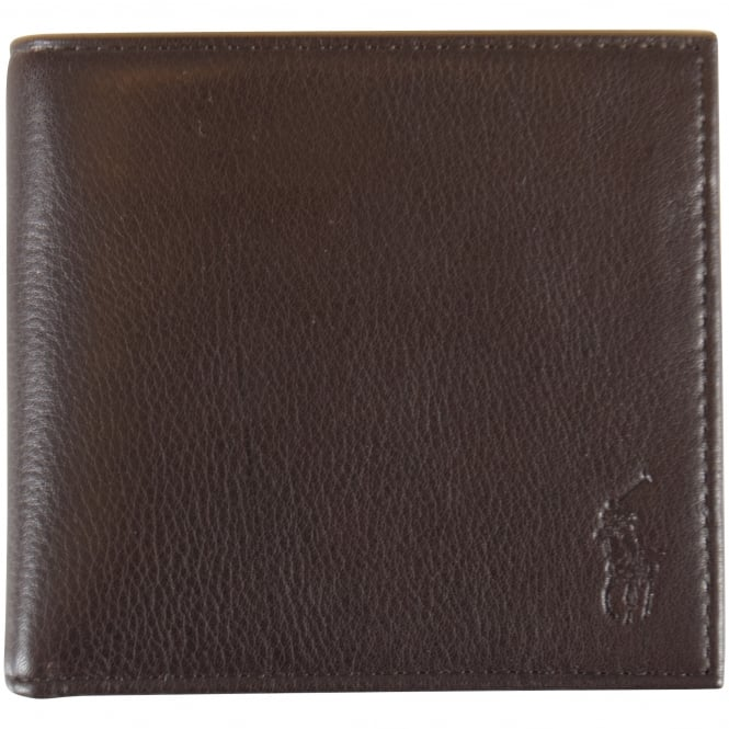 POLO RALPH LAUREN Brown Leather Billfold Wallet