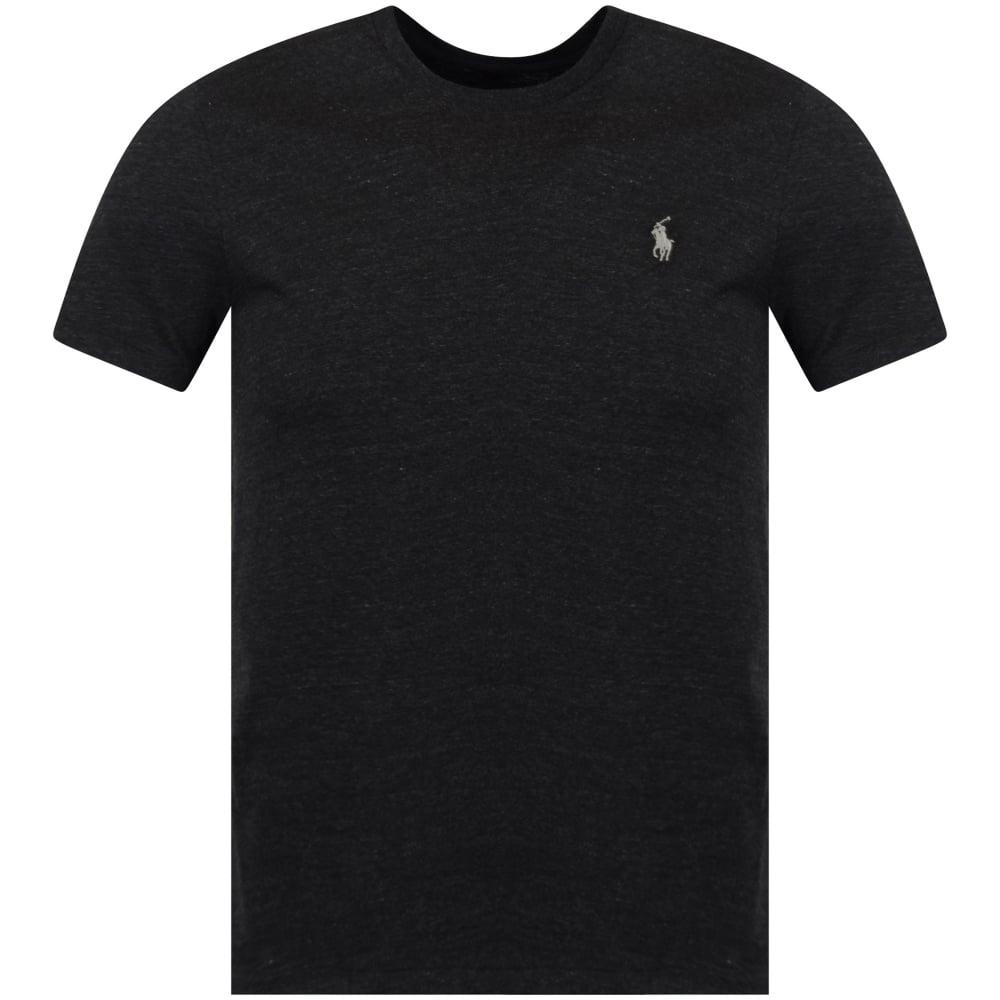 efa37afa290 POLO RALPH LAUREN Polo Ralph Lauren Charcoal Black Crew T-Shirt ...