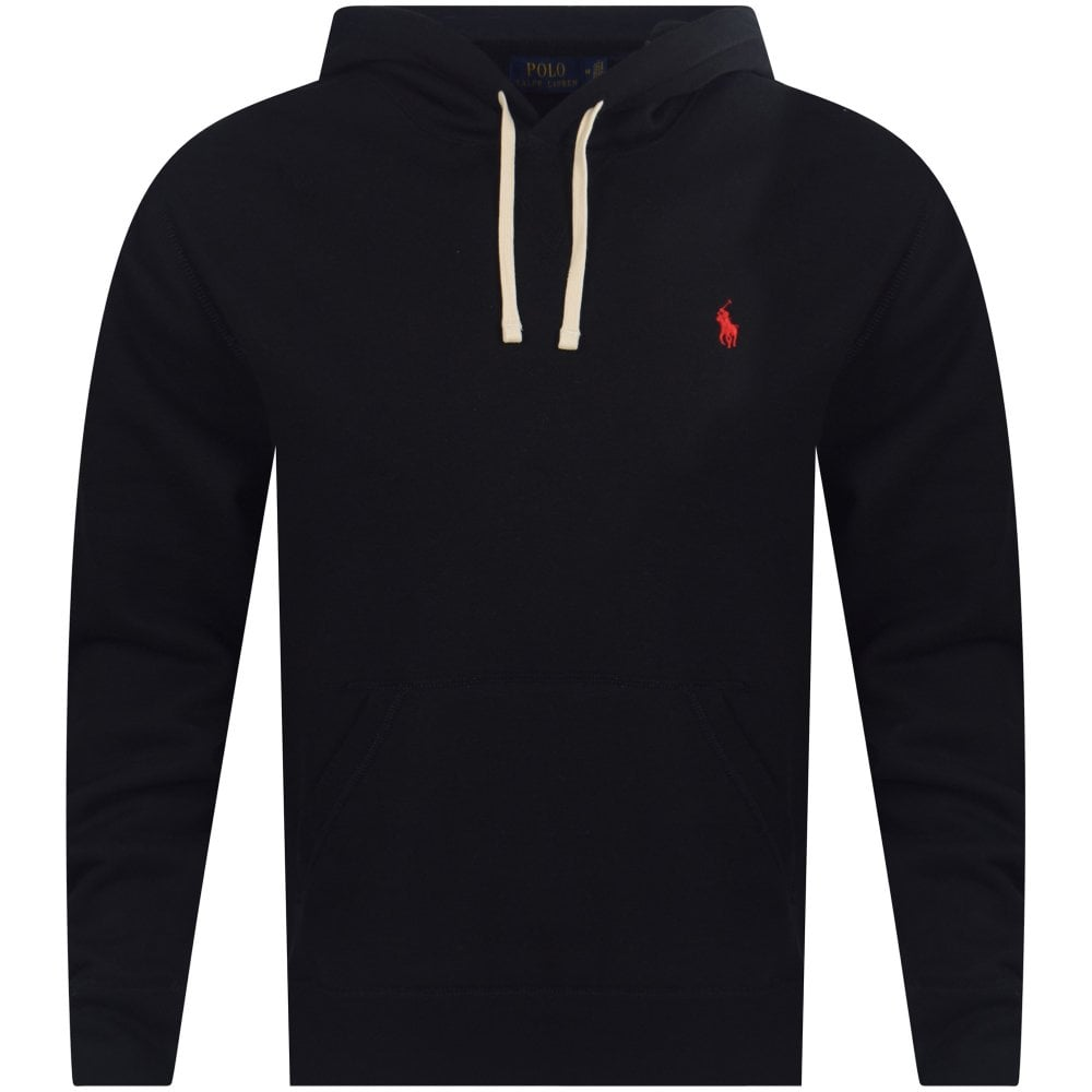 2267ca83a Polo Ralph Lauren Classic Black Cotton Blend Fleece Pullover Hoodie