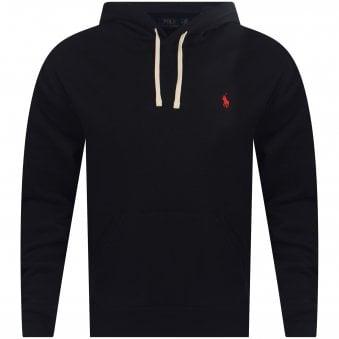a9fafea7b Polo Ralph Lauren Classic Black Cotton Blend Fleece Pullover Hoodie