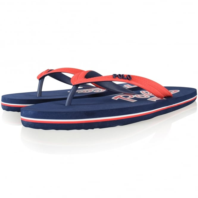 POLO RALPH LAUREN FOOTWEAR Polo Ralph Lauren Navy/Red Whitlebury Flip Flops