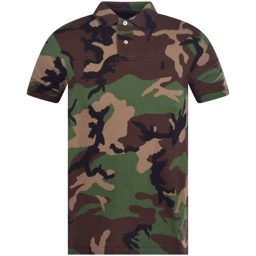 4509b01bb69 Green Camo Mesh Polo Shirt