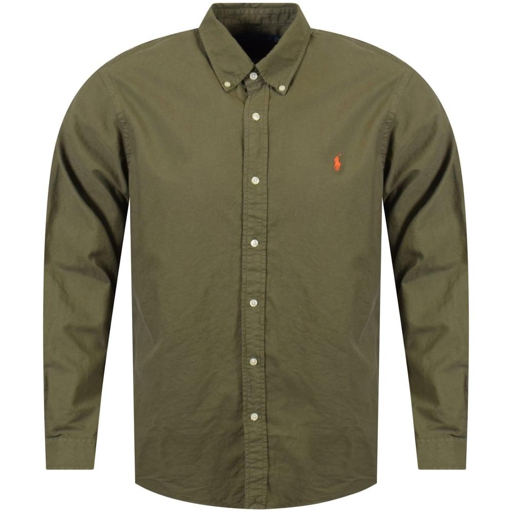 70bebec198bf POLO RALPH LAUREN Polo Ralph Lauren Green Slim Fit Long Sleeve Shirt ...