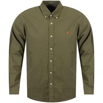 Polo Ralph Lauren Green Slim Fit Long Sleeve Shirt